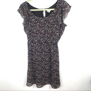 Dynamite Floral Belted Dress Women's Size Medium